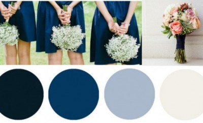 Blue & White Wedding Colors - Preppy Wedding Style