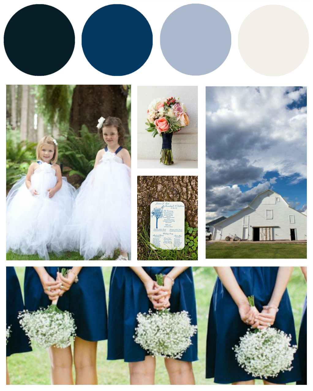 Wedding Themes And Colors: Blue & White Wedding Colors