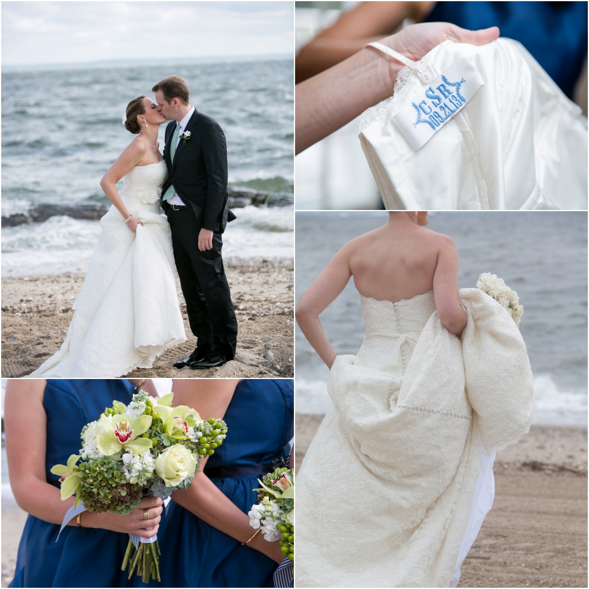 Vintage Wedding Dresses Miami: Preppy Beach Wedding With Blue Colors