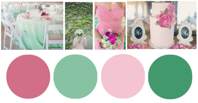 Pink Amp Green Wedding Colors