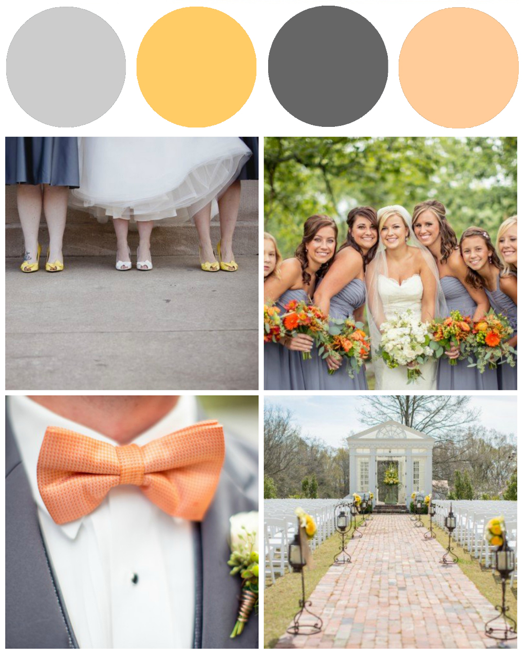 Yellow & Gray Preppy Wedding Colors - Preppy Wedding Style
