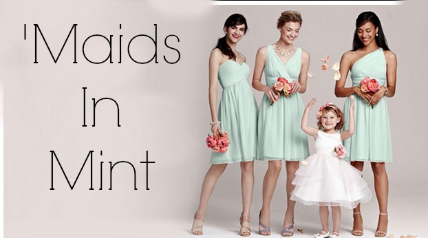 Mint Colored Bridesmaid Dresses