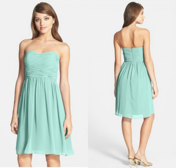 Mint Bridesmaid Dresses - Preppy Wedding Style