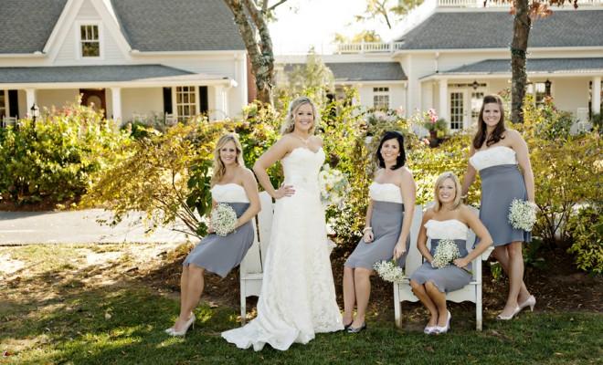 Preppy Wedding Style Bride and Bridesmaids