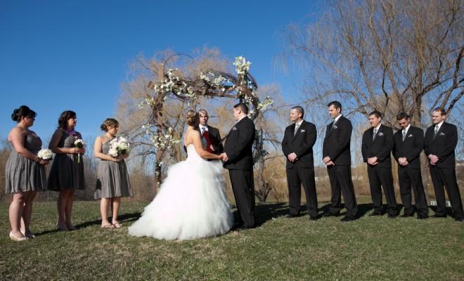 Bride + Groom Outdoor Wedding Ceremony